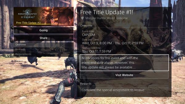 Atualização de Monster Hunter World: Iceborne vai adicionar nova região 2