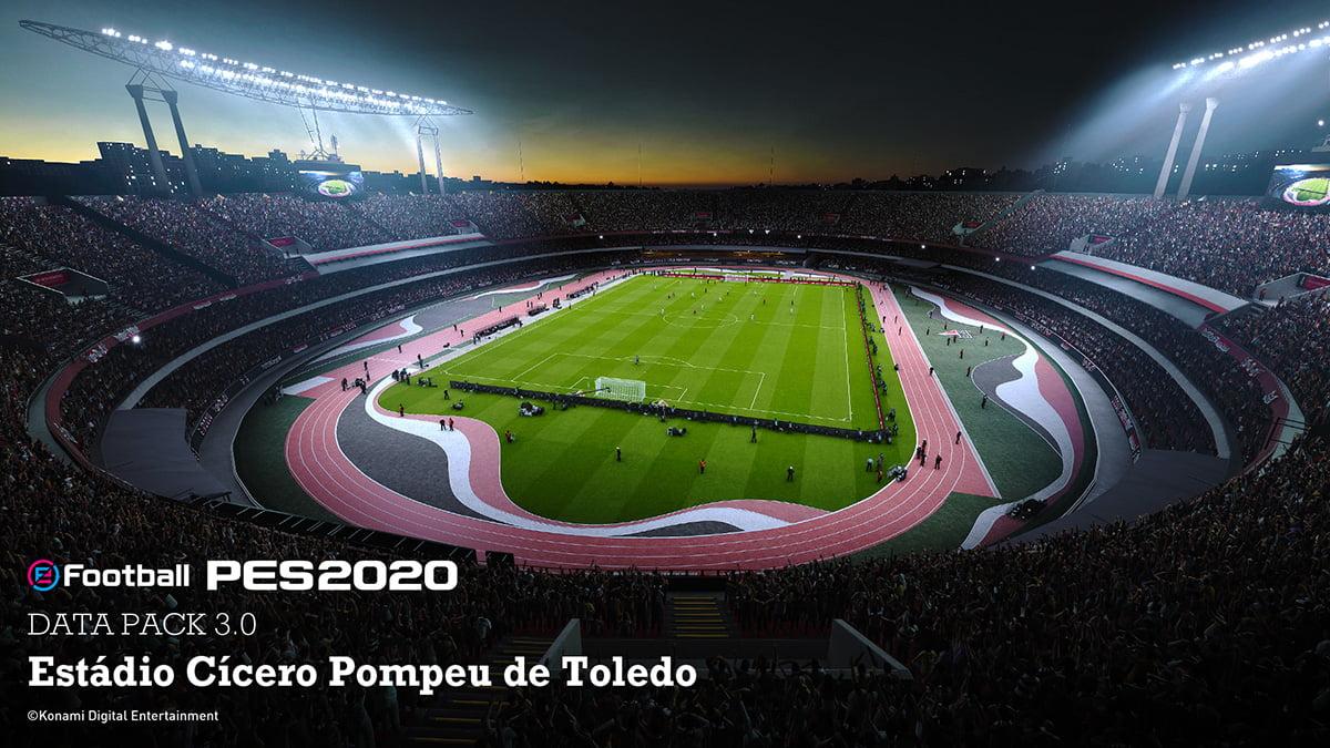 Data Pack 3.0 traz Arena do Grêmio e Bruno Henrique ao PES 2020 3