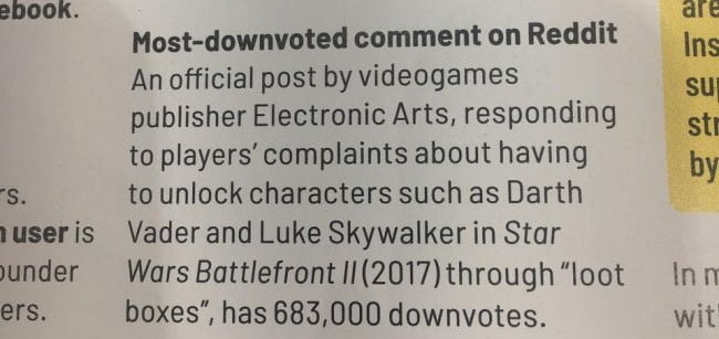 """EA entra no Guinness por """"post mais negativado do Reddit"""" 1"""