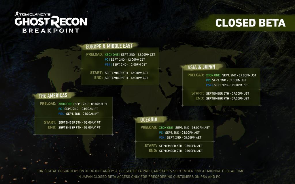 Ghost Recon Breakpoint: pré-load da beta está disponível 1