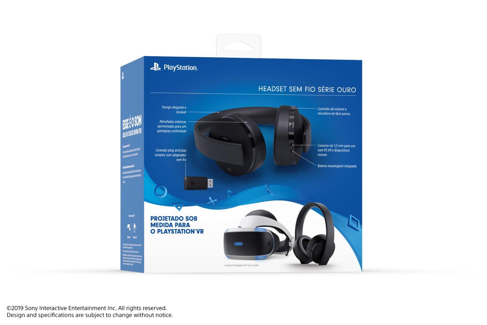 Headset PlayStation Série Ouro chega oficialmente ao Brasil por R$ 499 7