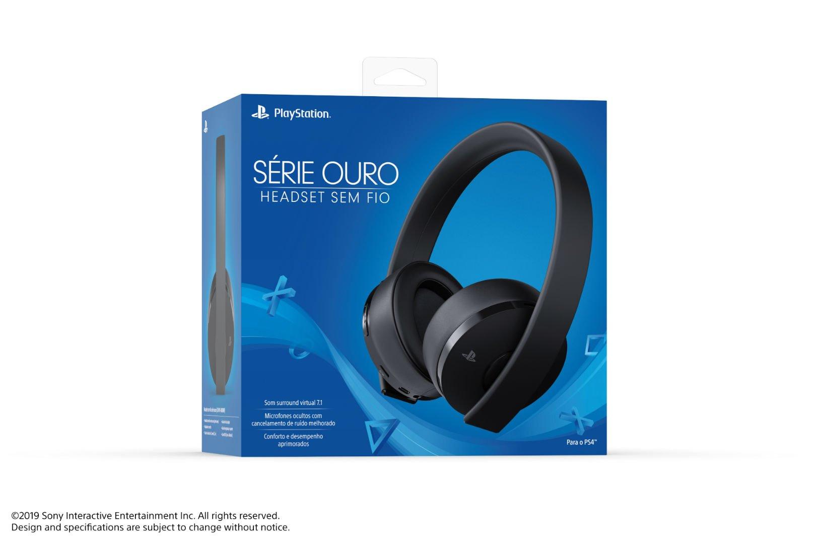 Headset PlayStation Série Ouro chega oficialmente ao Brasil por R$ 499 8