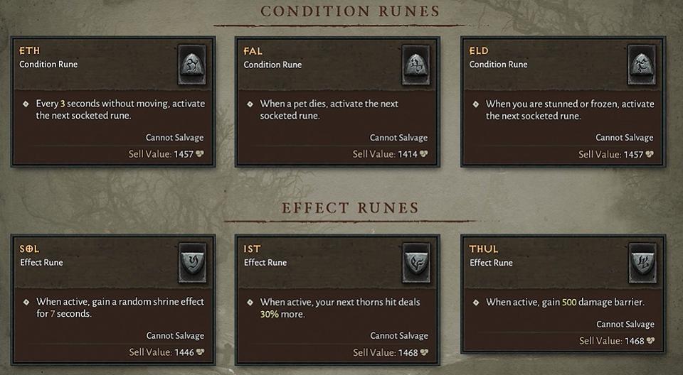 Runewords Diablo IV
