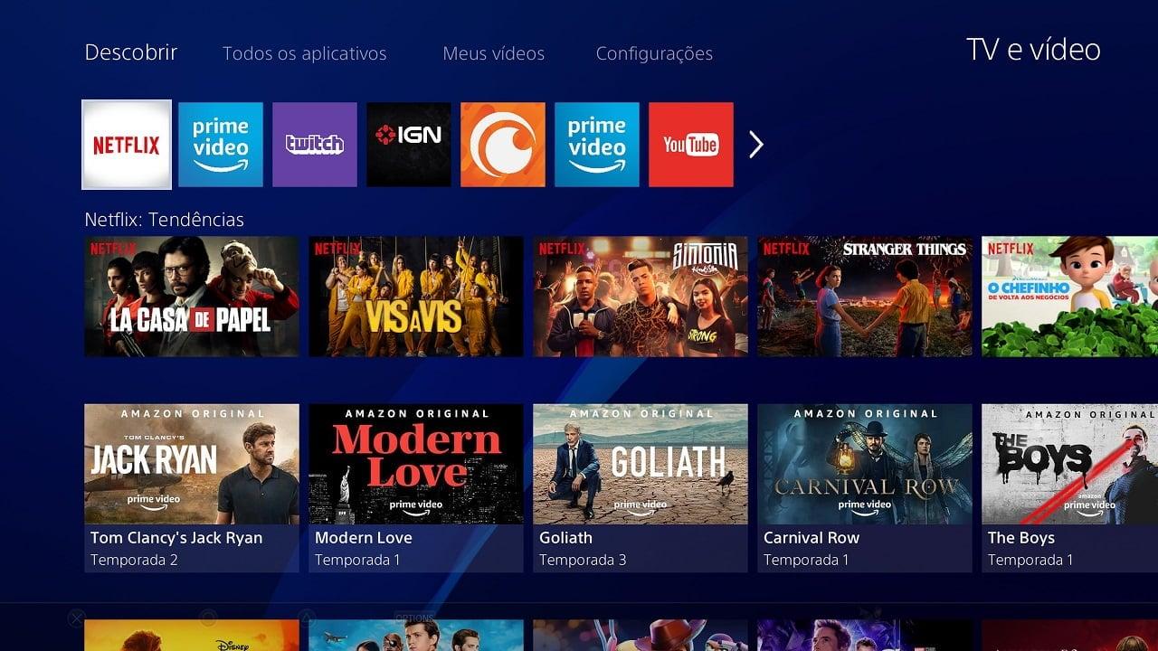 PlayStation 4 TV e Vídeo