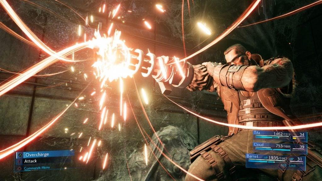 Barret em combate (Foto: Square Enix)