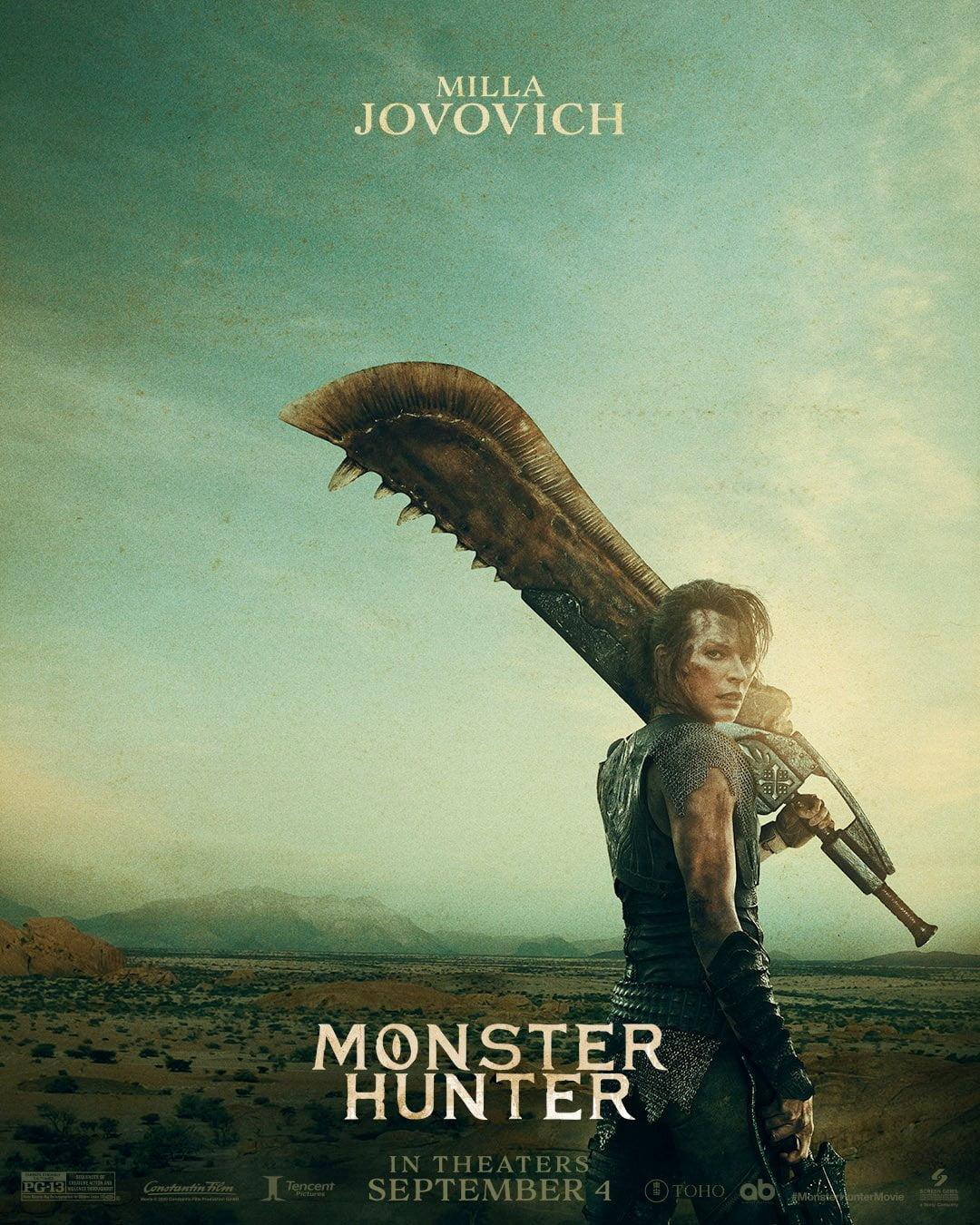 Filme de Monster Hunter ganha pôsteres com Milla e Tony 1