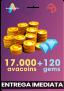 17000 Avacoins + 125 Gemas – Avakin Life